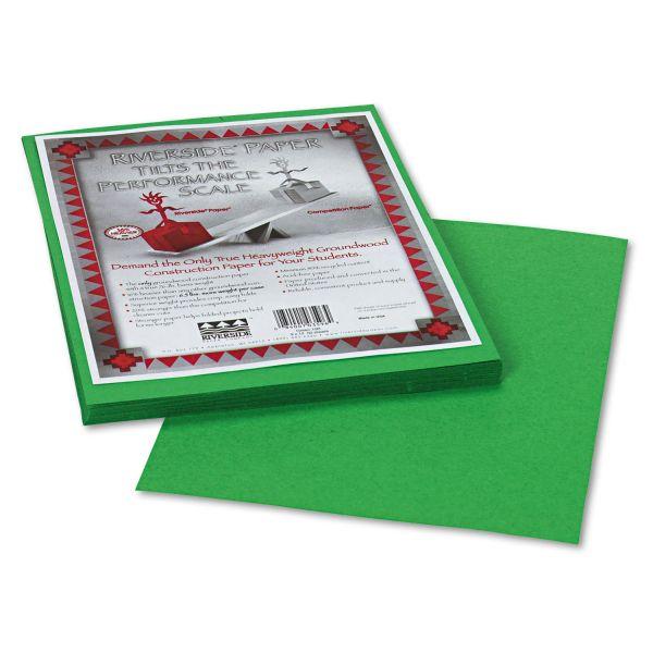 Riverside Groundwood Green Construction Paper
