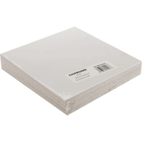 "Medium Weight Chipboard Sheets 6""X6"" 25/Pkg"