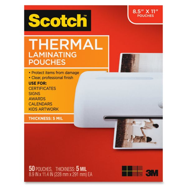 Scotch Letter Size Thermal Laminating Pouches
