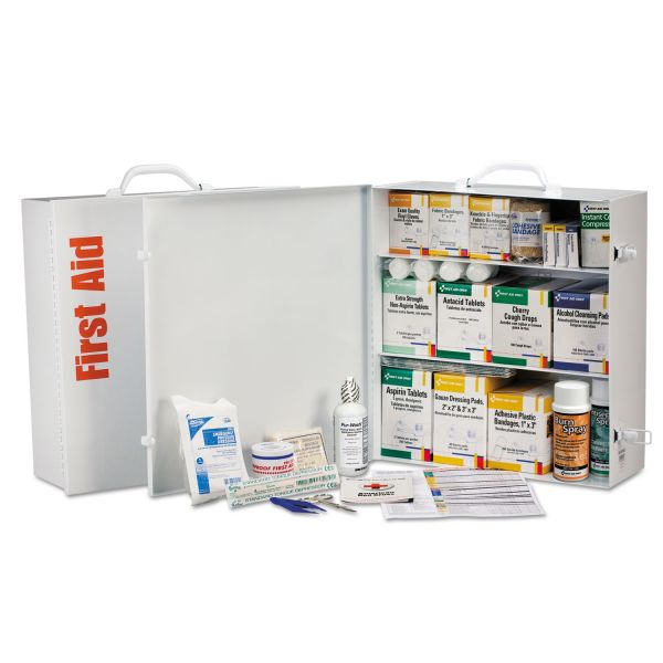 First Aid Only Industrial First Aid Station for 100 People, 1,041 Pieces, OSHA, Metal
