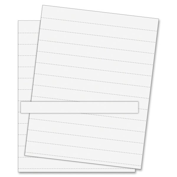 MasterVision Data Card Replacement Sheet, 8 1/2 x 11 Sheets, White, 10/PK