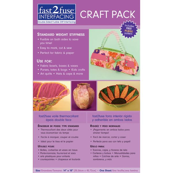Fast2fuse Craft Pack Interfacing Regular Weight