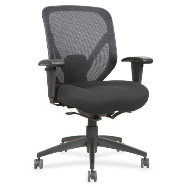 Lorell Self-tilt Mid-Back Mesh Office Chair