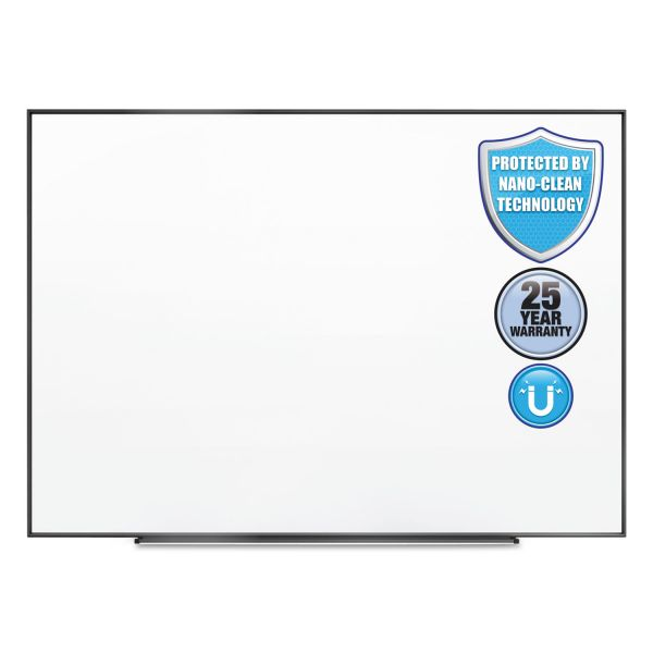 Quartet Fusion Nano-Clean Magnetic Whiteboard, 36 x 24, Black Frame