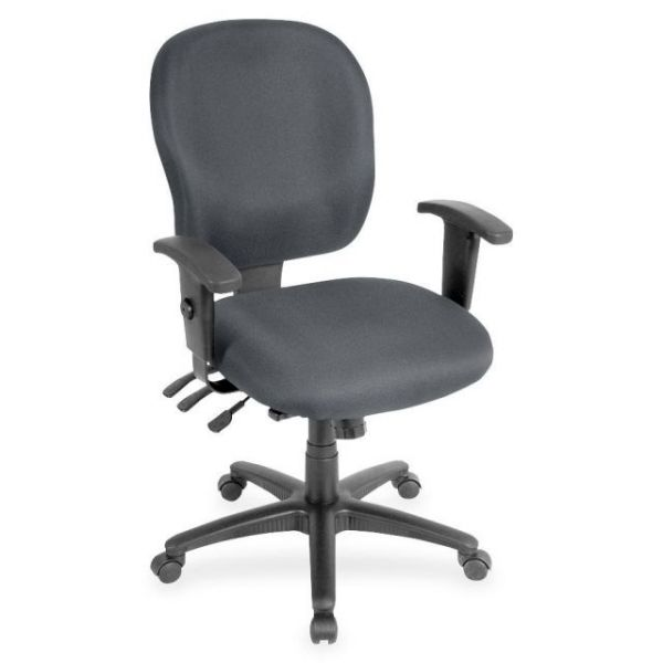 Lorell Adjustable Waterfall Design Task Chair