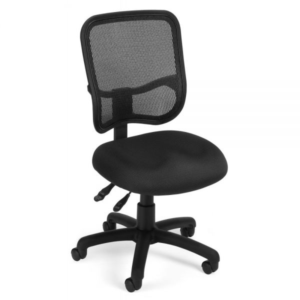 OFM Comfort Series Ergonomic Mesh Swivel Armless Task Chair