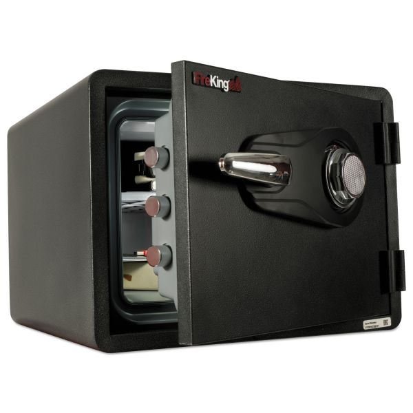 FireKing One Hour Fire and Water Safe with Combo Lock, 0.85 cu. ft., Graphite