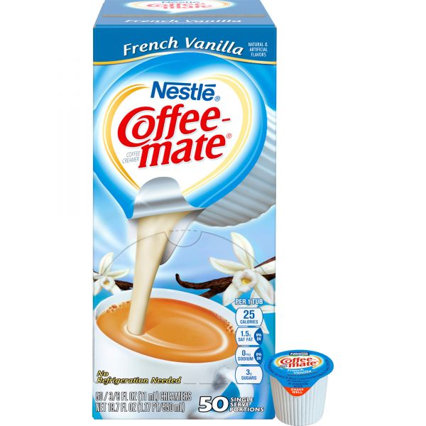 Coffee-mate Liquid French Vanilla Coffee Creamer Cups