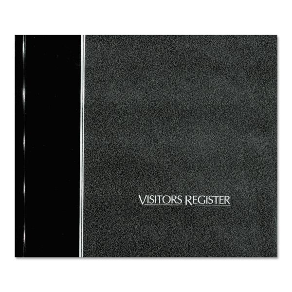 National Visitor Register Book, Black Hardcover, 128 Pages, 8 1/2 x 9 7/8