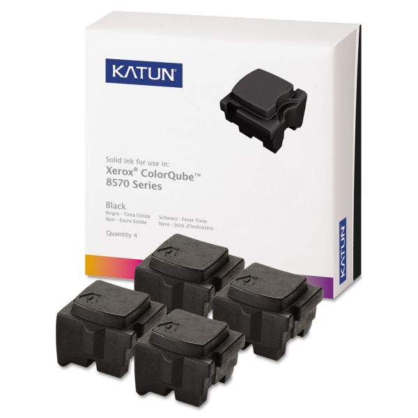 Katun 39403 Compatible 108R00930 High-Yield Solid Ink Stick, Black, 4/BX