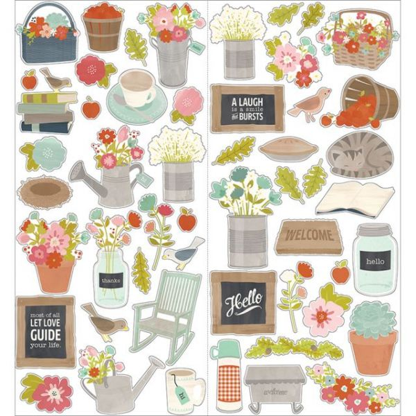 "Front Porch Cardstock Stickers 6""X12"" 2/Pkg"