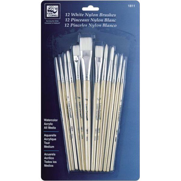 White Nylon Brush Set