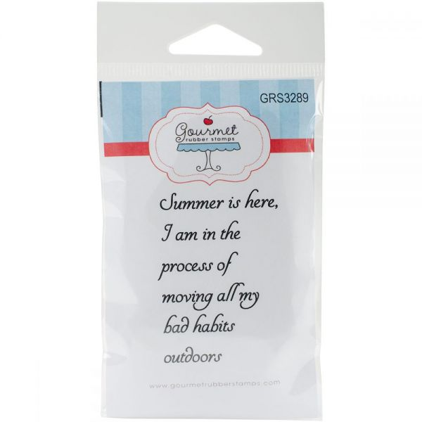 """Gourmet Rubber Stamps Cling Stamps 3.375""""X6.75"""""""
