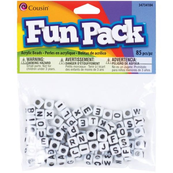 Cousin Fun Pack Acrylic Alphabet Beads