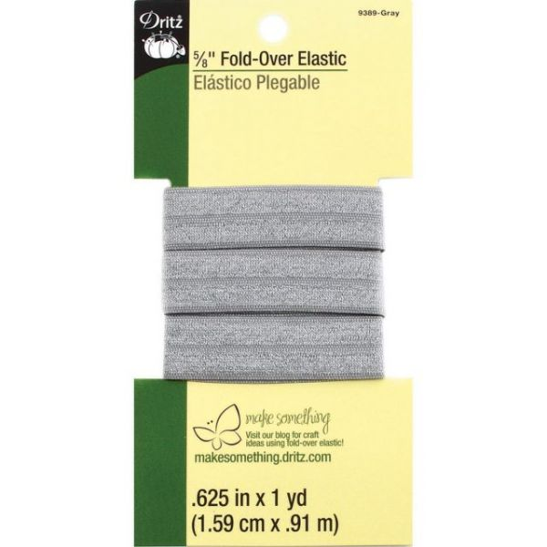 "Fold-Over Elastic 5/8""X1yd"
