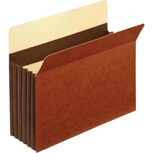 Pendaflex Heavy-Duty File Pockets, Straight Cut, 1 Pocket, Letter, Redrope