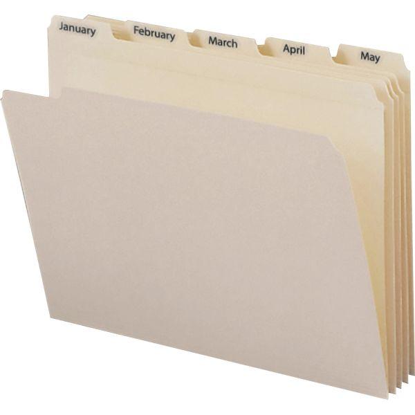 Smead 11765 Manila Indexed File Folder Sets