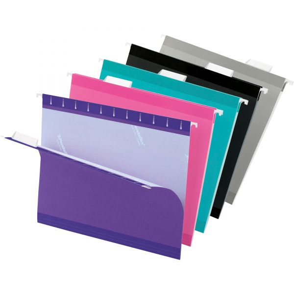 Pendaflex Reinforced Hanging Folders, 1/5 Tab, Letter, Assorted, 25/Box