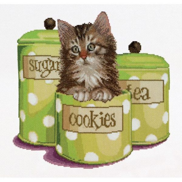 Cookie Time On Aida Counted Cross Stitch Kit