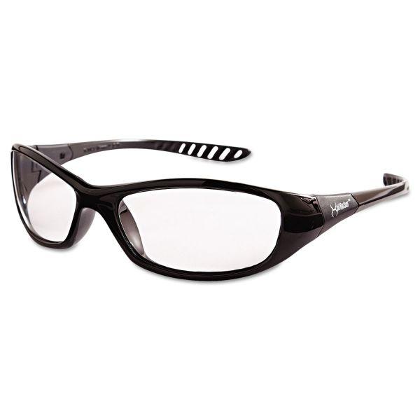 Jackson Safety* V40 HellRaiser Safety Glasses, Black Frame, Clear Lens