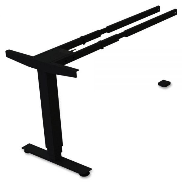 Lorell Sit/Stand Desk Black Third-leg Add-on Kit