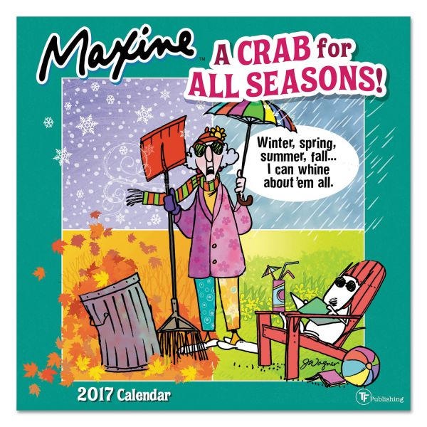 TF Publishing Maxine Monthly Wall Calendar