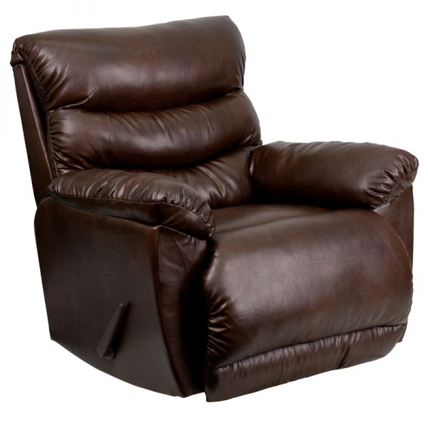 Flash Furniture Contemporary Tonto Espresso Bonded Leather Rocker Recliner