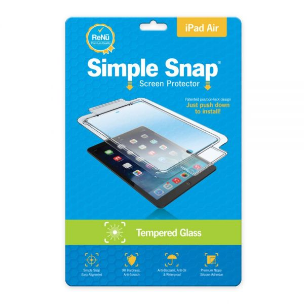 ReVamp Simple Snap Screen Protector (iPad Air) (Tempered Glass) Transparent