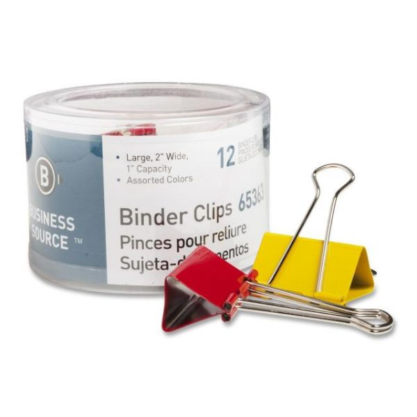 Business Source Large Binder Clips