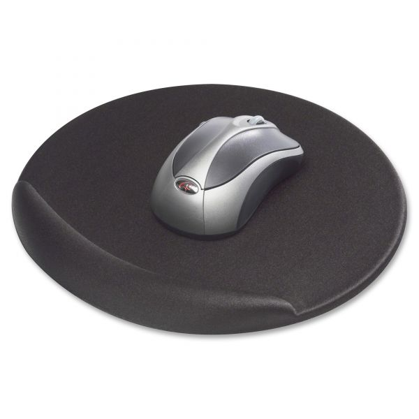 Kelly Computer Supply Mouse Pad, Memory Foam, Non-Skid Base, 8 x 8 x 3/4, Black