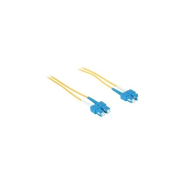 5m SC-SC 9/125 OS1 Duplex Singlemode PVC Fiber Optic Cable - Yellow