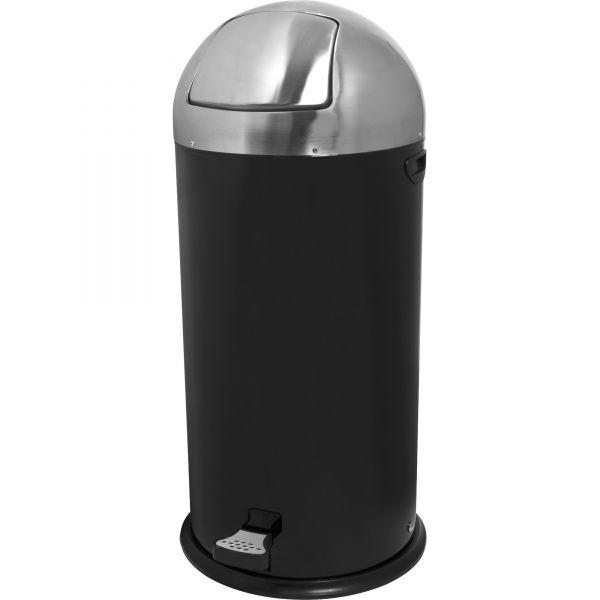 Genuine Joe Hands Free Step-On 13.5 Gallon Trash Can