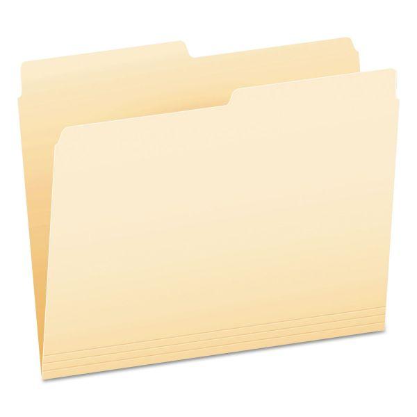 Pendaflex Archival-Quality File Folders, 1/3 Cut Top Tab, Letter, Manila, 100/Box