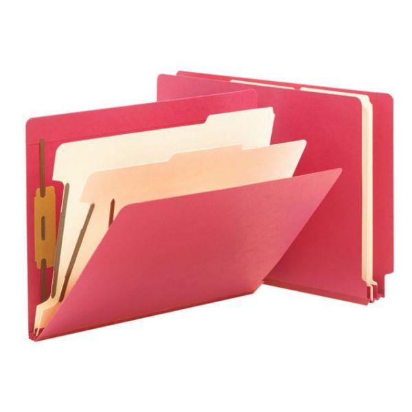 Smead End Tab Red Classification Folders