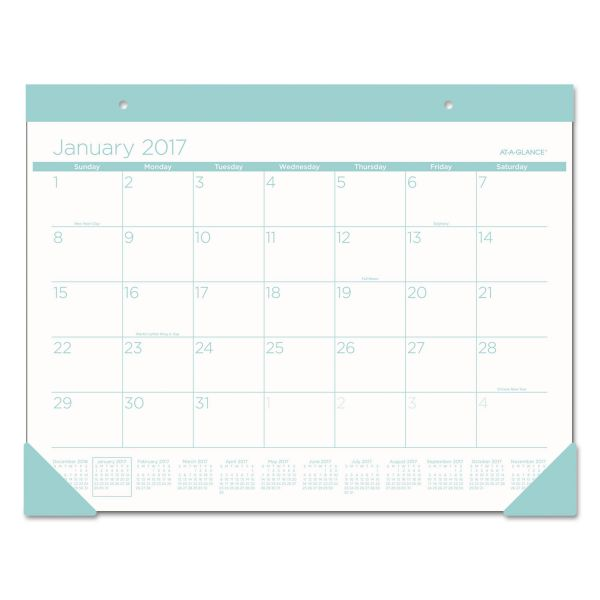 At-A-Glance Color Play Monthly Desk Pad Calendar