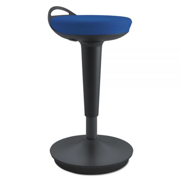 Alera Balance Perch Stool, Blue with Black Base