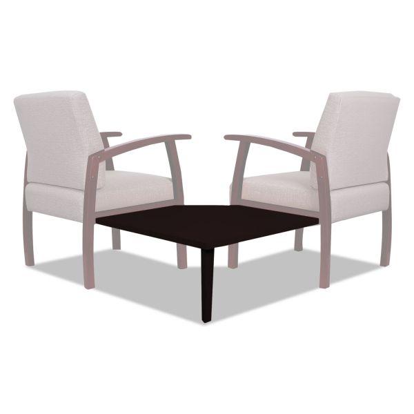 Alera Alera Reception Lounge 700 Series Gang Table, Corner, 27 1/2 x 27 1/2, Mahogany