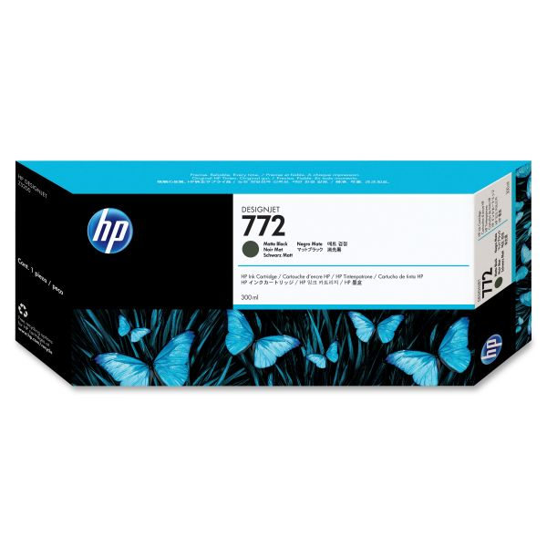 HP 772 Matte Black Ink Cartridge (CN635A)