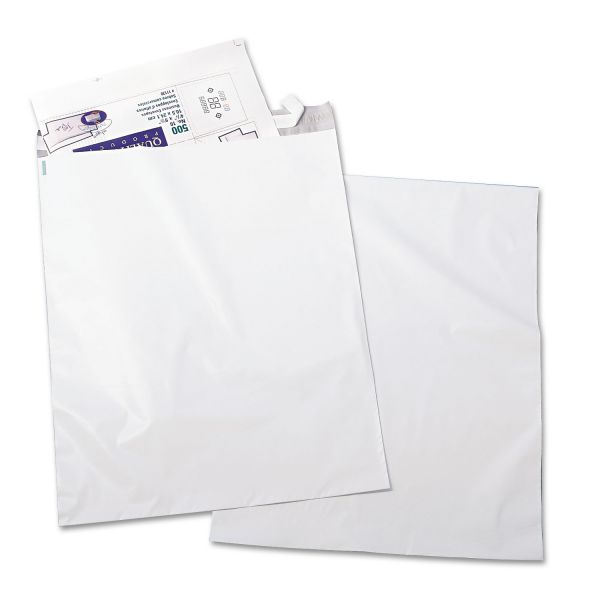 Quality Park Redi Strip Poly Mailer, 14 x 19, White, 100/Pack