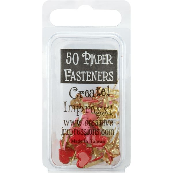 Painted Metal Paper Fasteners 50/Pkg
