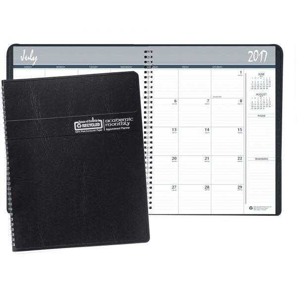 House of Doolittle Ruled Monthly Academic Planner