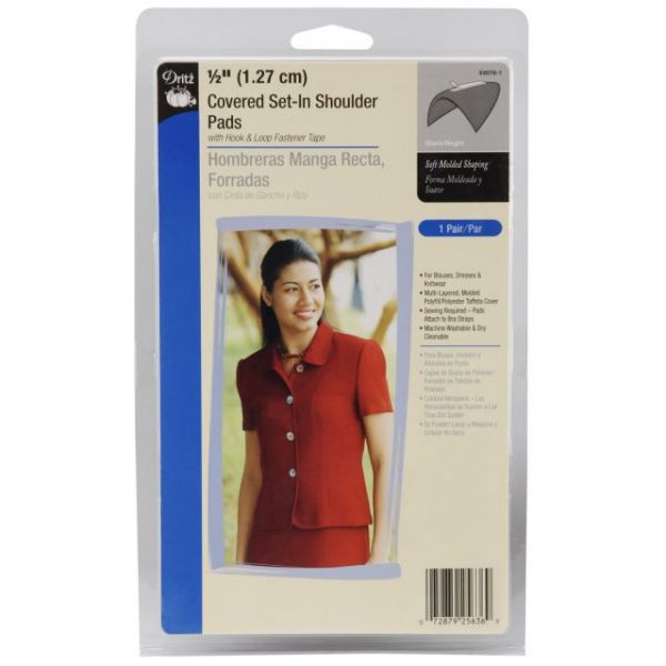"1/2"" Covered Set-In Shoulder Pads 2/Pkg"