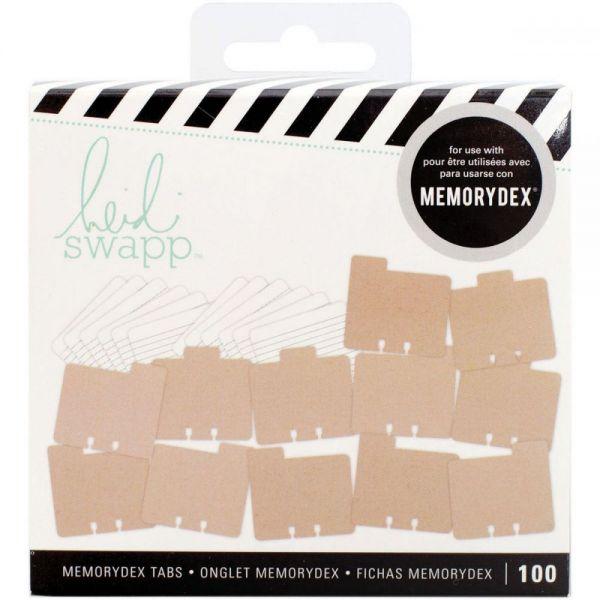 Heidi Swapp Memorydex File Cards & Tabbed Dividers 100/Pkg