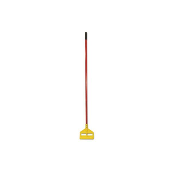 "Rubbermaid Commercial Invader Fiberglass Side-Gate Wet-Mop Handle, 60"", Red/Yellow"