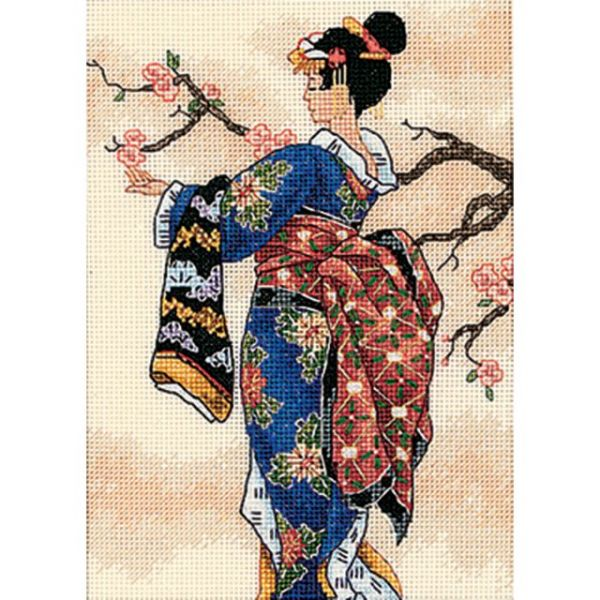 Gold Petite Mai Counted Cross Stitch Kit