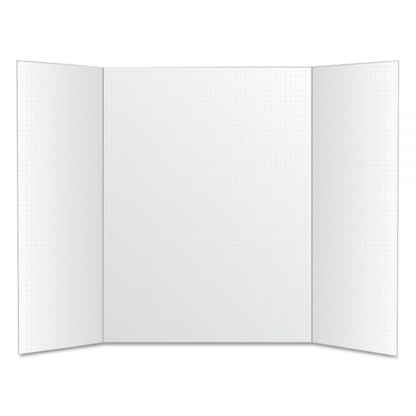 Royal Brites Foam Tri-Fold Grid Board, 22 x 28, White