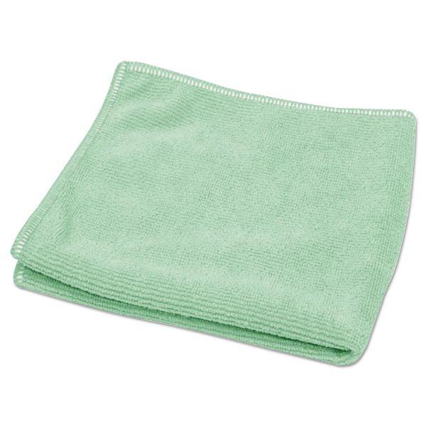 "Diversey TASKI Microstandard Cloths, Green, 12 1/2"" x 12 1/2"", 20/Pack"