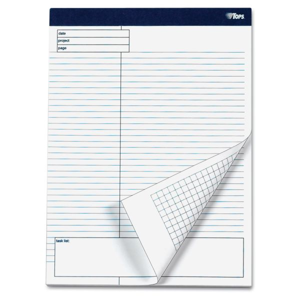 Tops Project Planning Pad with Margin Task List- 4/pk