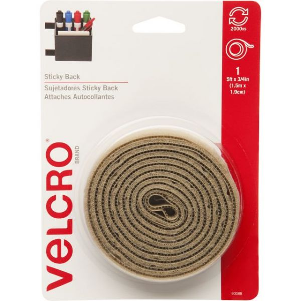 "VELCRO(R) Brand STICKY BACK Tape 3/4""X5'"