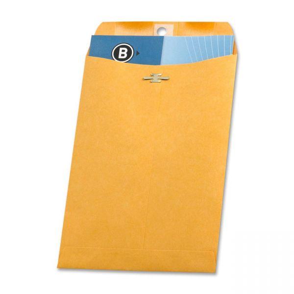 "Business Source Gummed 6 1/2"" x 9 1/2"" Clasp Envelopes"